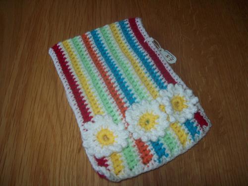 Handmade Crochet - Crochet Hook Holder. Stripes. Unique Item   The ...